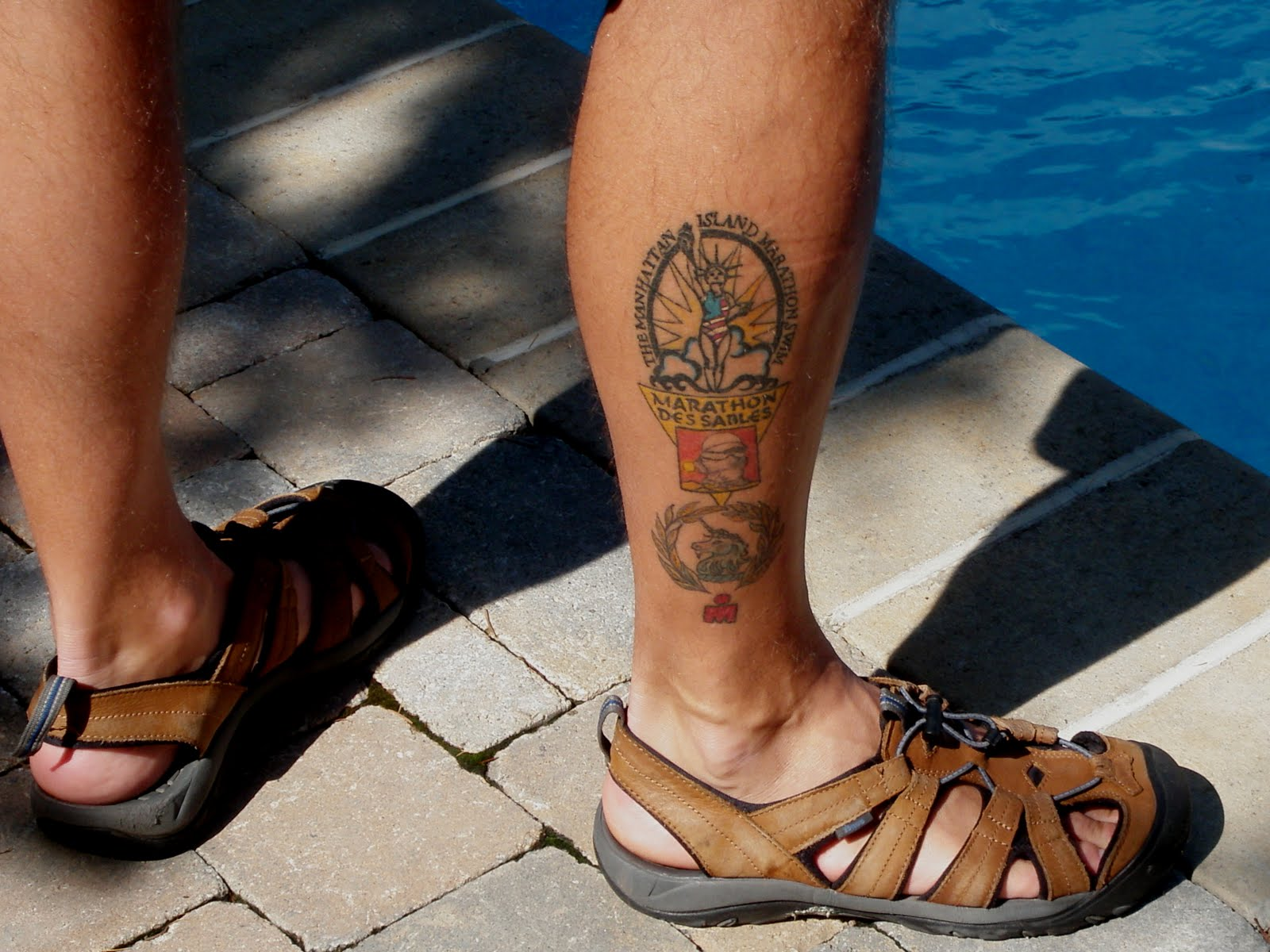 water swimming tattoos