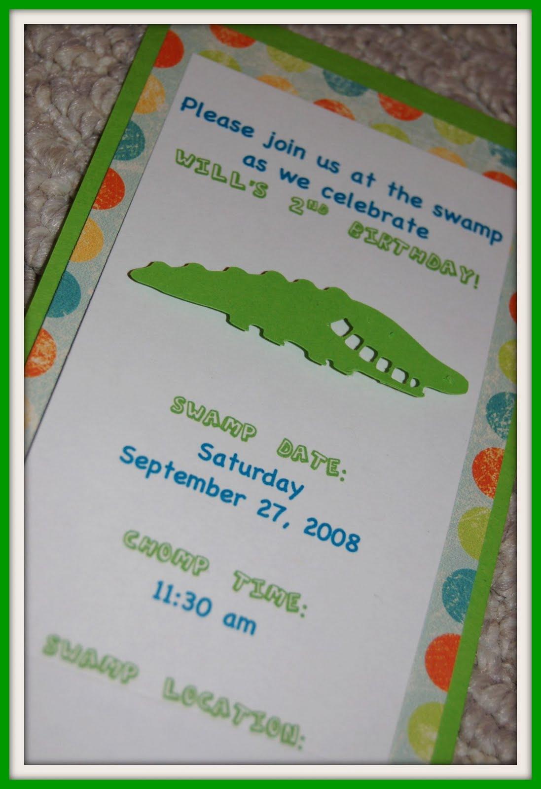 Alligator birthday party invitationg filmwisefo