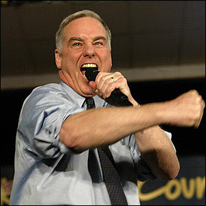 Howard Dean screaming