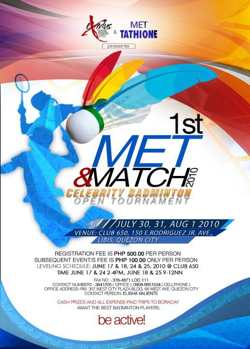 ... Open Tournament on July 30, 31 & August 1, 2010 at Club 650, Libis
