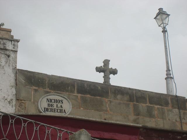 Nichos de la derecha en el cementerio