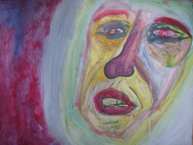 Cara de mujer angustiada