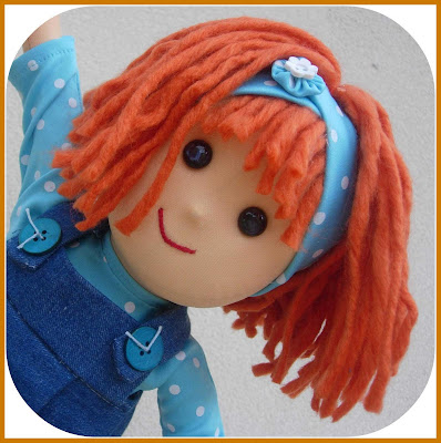 yarn doll hair tutorial