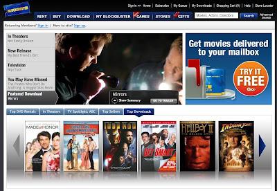 BlockBuster oferece filmes pay-per-view e pela internet