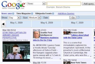 Notícias e Busca de Imagens inteligentes no Google Labs.