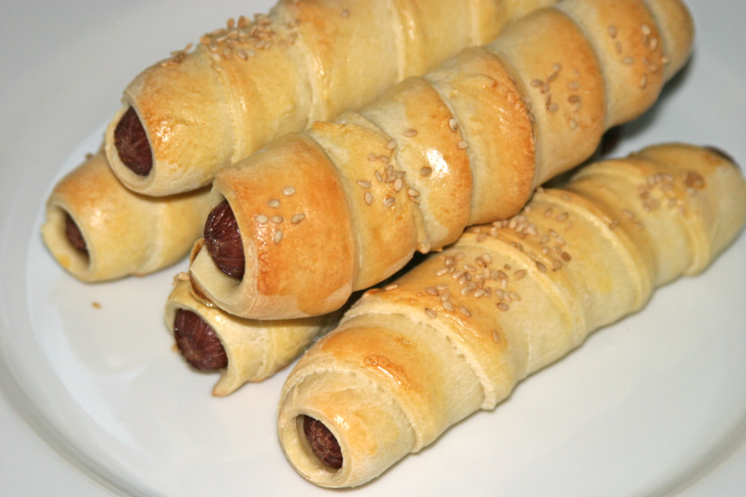 Sausage Rolls or 'Pigs in Blankets'