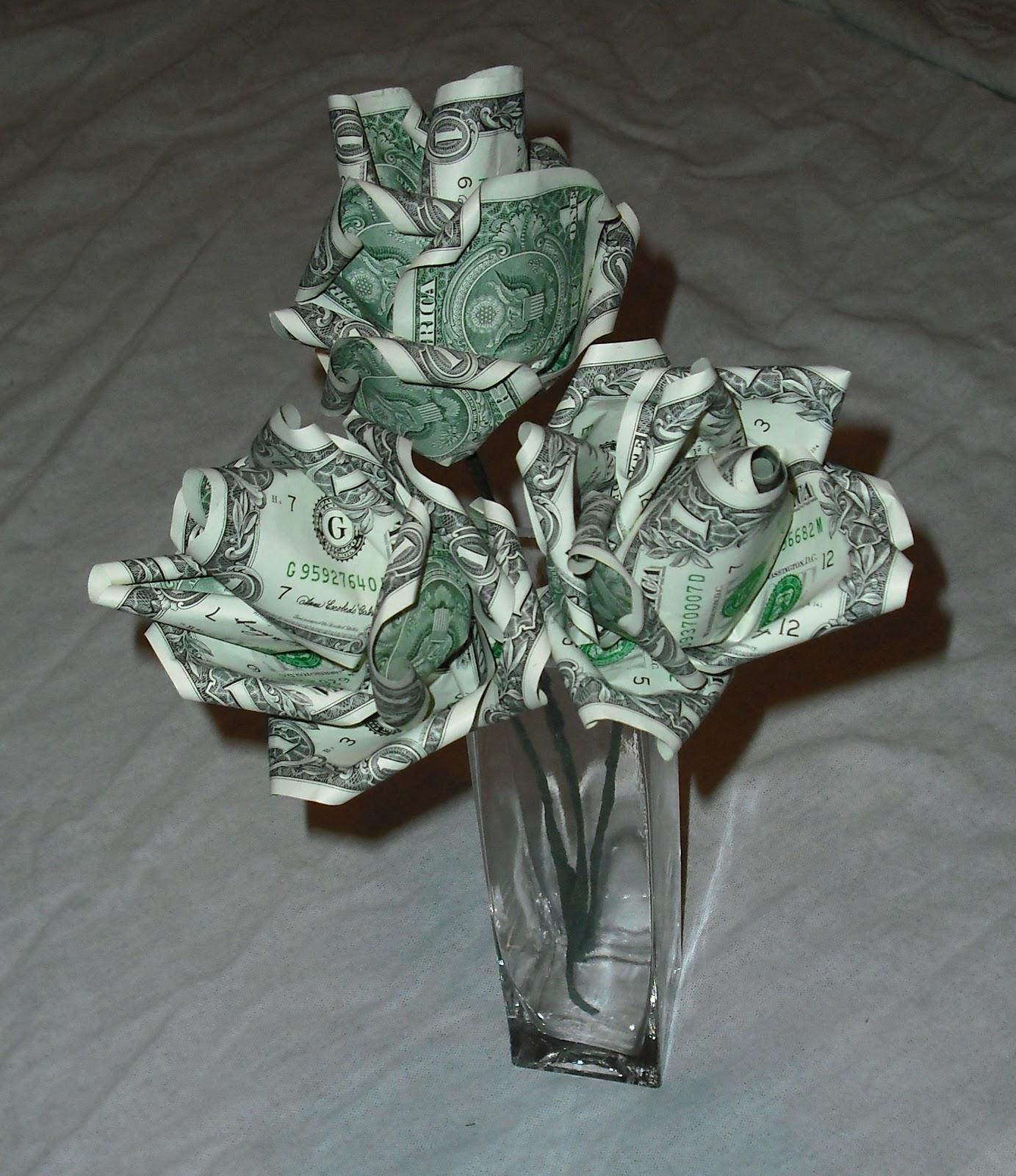 How To Do Money Origami Rose - photo#13