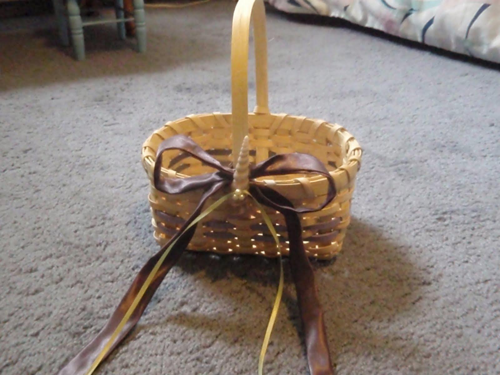 Flower Girl Baskets Diy : Our day in the making diy flower girl basket
