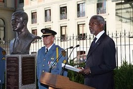 Unveiling of the bust of Sergio Vieira de Mello on 28 June 2007 at Palais Wilson, in Geneva