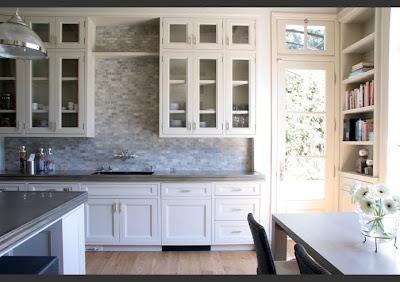 Off White Kitchen Marble Mosaic Backsplash Bristol Circle Soapstone Counters