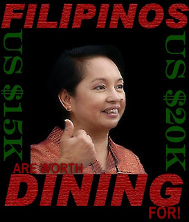 Gloria Arroyo says, Filipinos are worth dining for