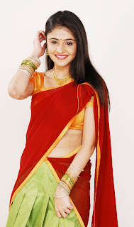 Telugu Actress Rachana Navel Half saree