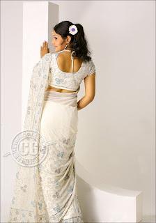 Vandhana Menon Saree Ass Back Position