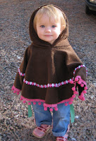 Christmas Gift Idea for the Little Girl on Your List (6 months to 6 years): Skipping Hippos Poncho 1