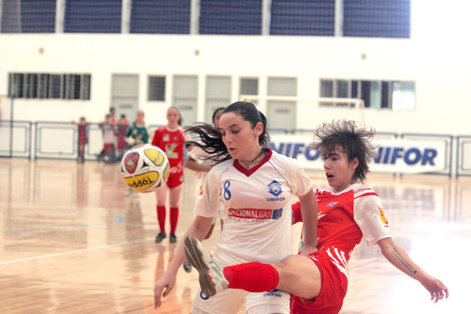 Brazilian National Futsal League in Fortaleza Ceara. Renata  and Ticy 8. going at it in 4finalist