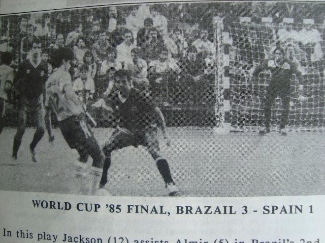 Fifa Futsal History  Espana 1 Versus Brazil 3 in Madrid 1985 World Cup.