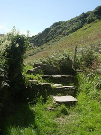 Stile on the way to Trebarwith Strand