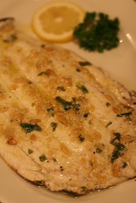 Sogliole al Basilico e ai Pinoli (Sole with Basil and Pine Nuts)