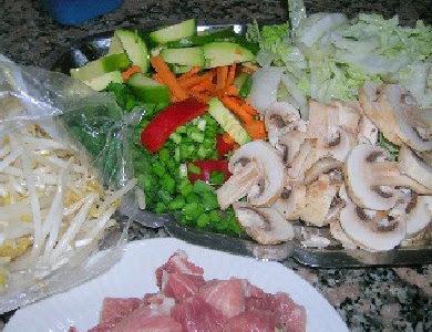 Chop suei con cerdo