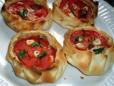 Mini tarta de tomates