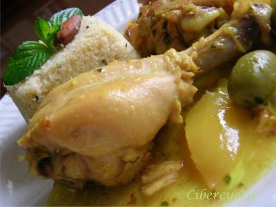 Pollo marroqu? con aceitunas