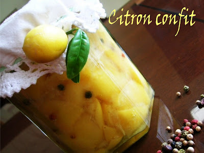 Limones en sal o  limón confitado