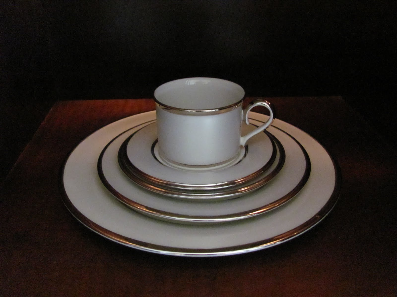 Our china. Love it. Lenox Ivory Frost . title=