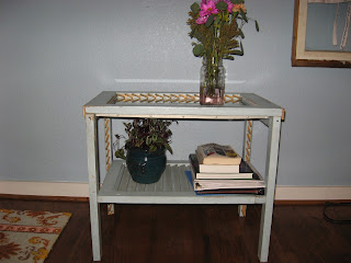 Furniture From Reclaimed Materials Reclaimed Shutters Repurposed Into An End Table