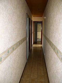 long, narrow hallway