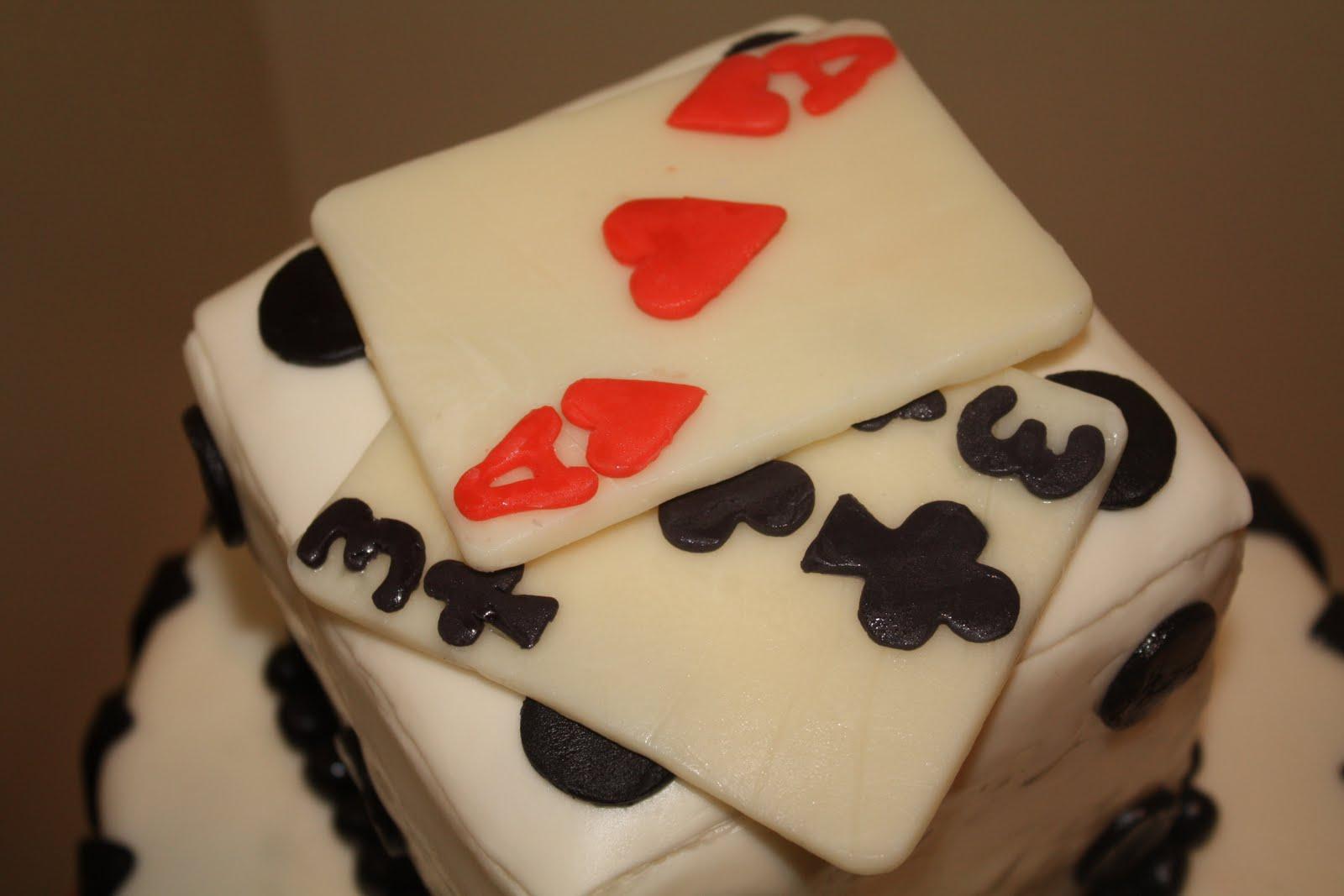 Two Sweet Bakery: Fondant covered Vegas themed wedding cake: playing ...
