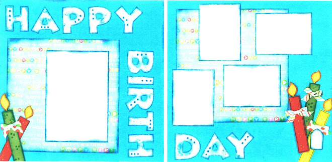 Happy Birthday (Blue) - Designed by Diane Kelly