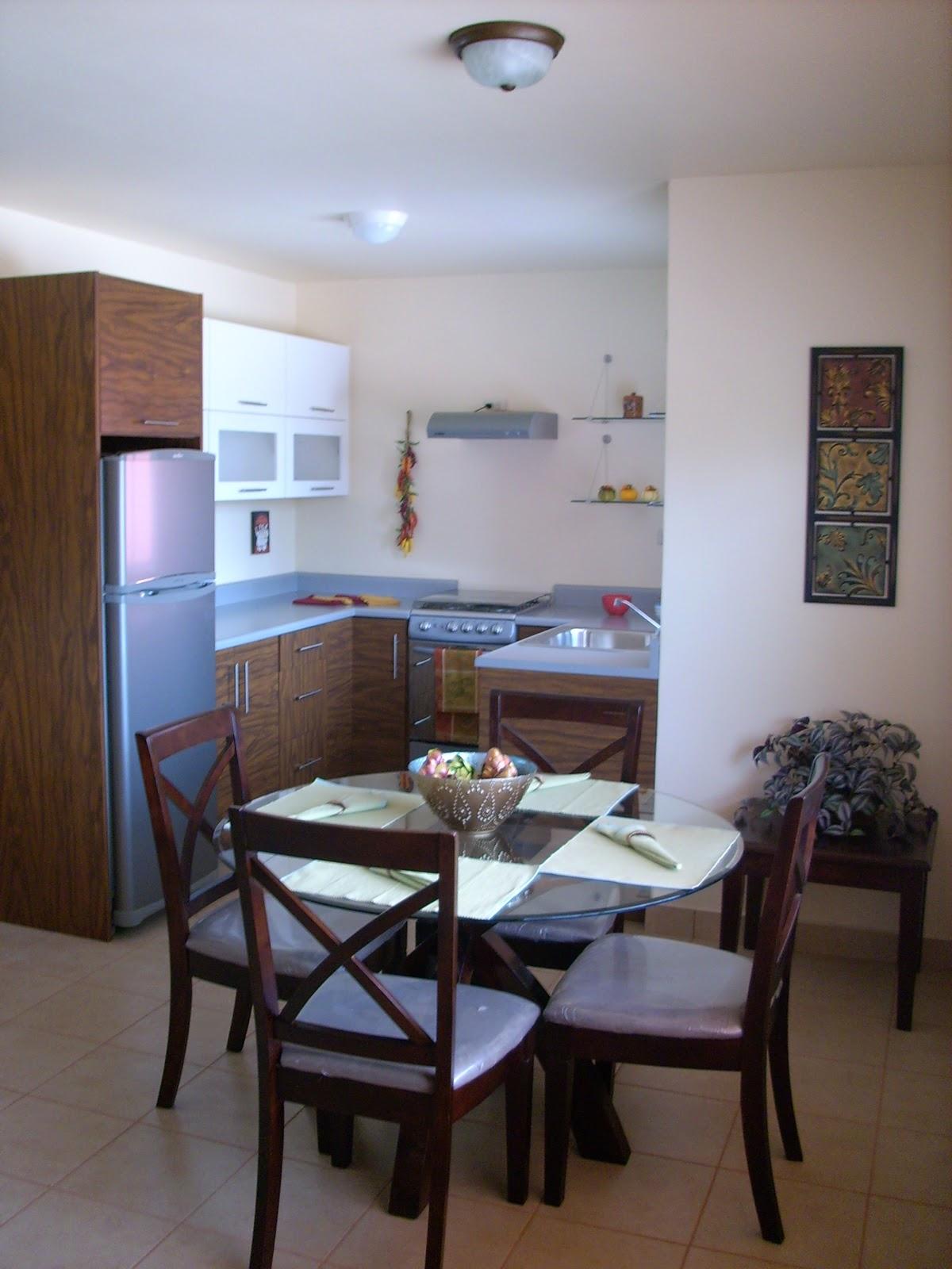 Departamentos la joya sala comedor cocina for Modelos de sala comedor