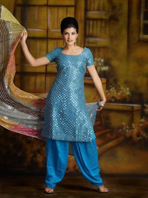 neck designs for salwar kameez. Moonlight sequined Kameez