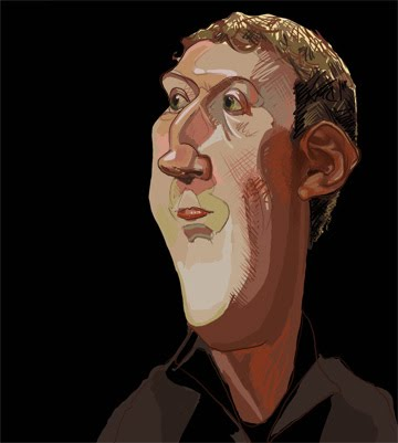 Here is a Mark Zuckerberg caricature via photoshop after pencil sketch.