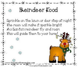 Five little reindeer poem you can also use candy grams which are super