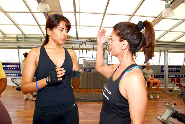 sameera reddy in gym cute stills