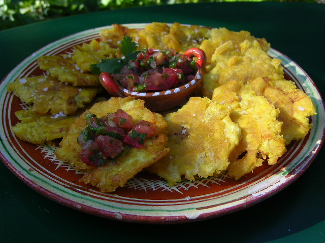 Patacones aka deep fried plantains costa rica cooking with a broad forumfinder Choice Image