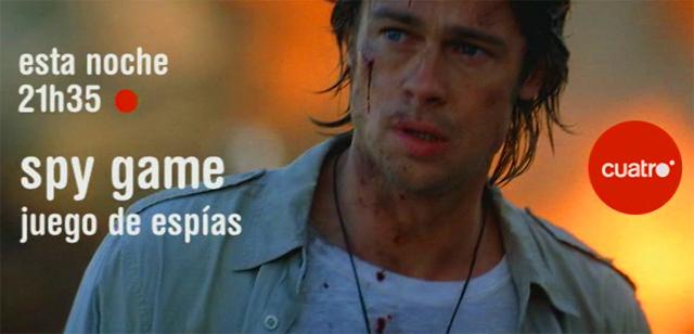 Brad Pitt en la Promo Cuatro Cine Spy Game (Juego de Espías) - 5ª Semana Enero 2011 con Robert Redford & Brad Pitt