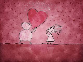 Cartoon Lover Heart Wallpaper