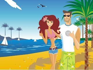 Lover Beach Love Wallpaper
