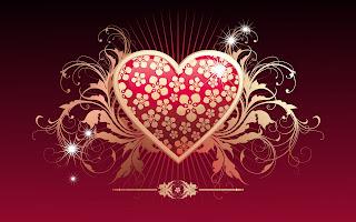 Centre Heart Love Wallpaper
