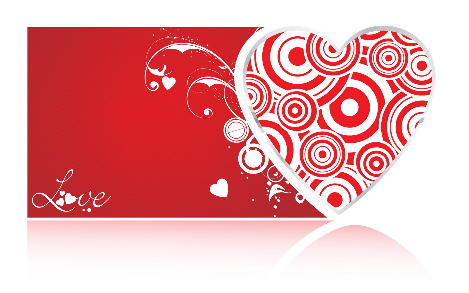 Red Pattern Love Wallpaper