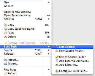 Eclipse - Build Path | Link Source...