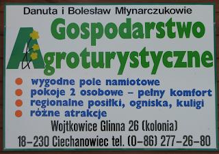 Gospodarstwo Agroturystyczne - Danuta i Bolesław Młynarczukowie