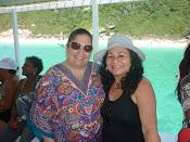 Escritora e artista Plástica Dyandreia Portugal e Jô Mendonça  em  Passeio Arrail do Cabo