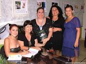Escritoras Vanyr, Eunice, Dyandreia Portugual, Jô Mendonça e Ana Elizandra