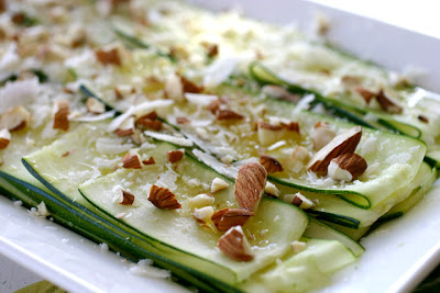 Zucchini Carpaccio with Almonds