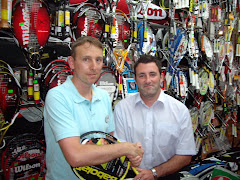 CONGRATULATIONS TO KEN MURPHY, WINNER OF A RACKET IN OUR TENNIS WEEK DRAW.