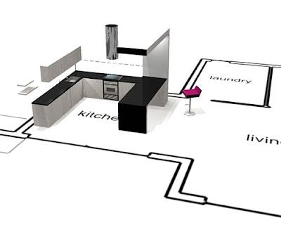 the carr kitchen from ernestomeda designed by marc sadler