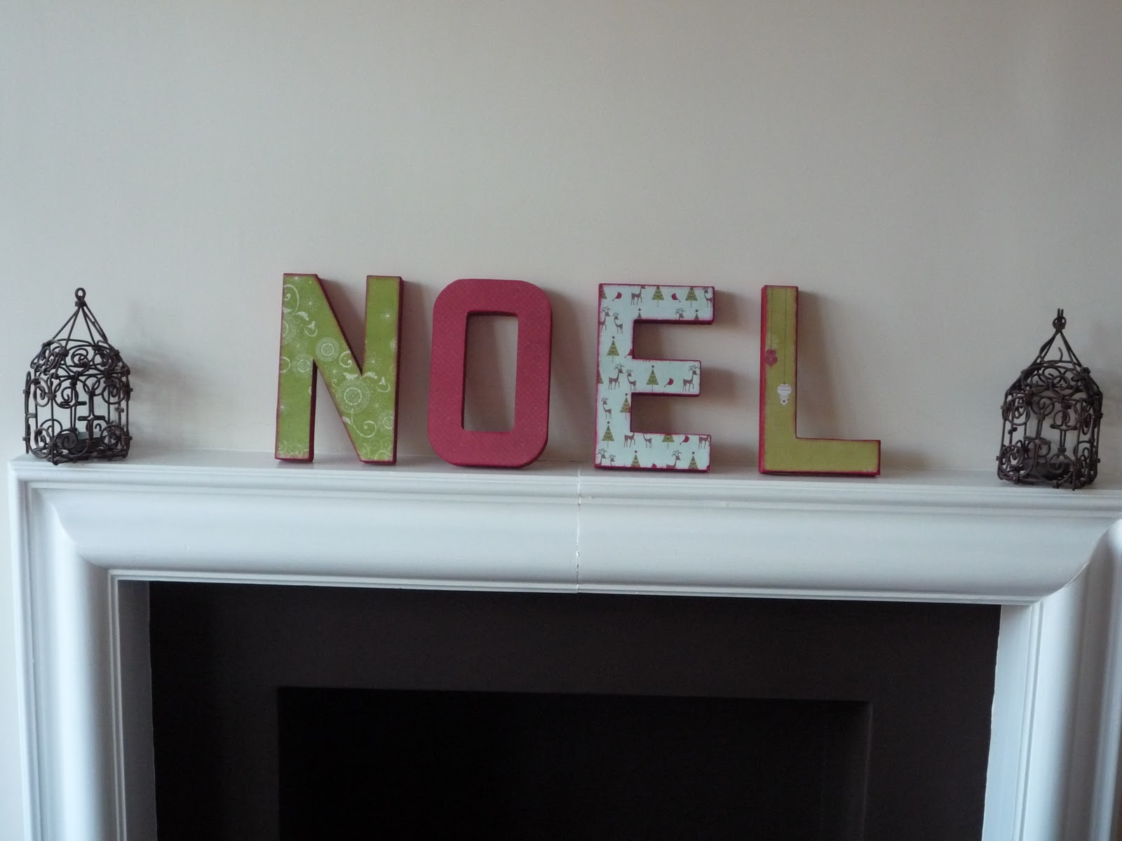 That cute little cake noel letters for Decoration 11 letters
